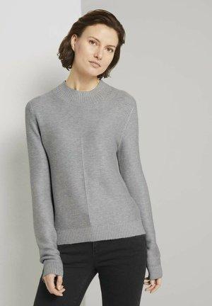 MIT OTTOMAN STRUKTUR - Jumper - comfort grey melange
