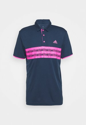 CORE LEFT CHEST - Polo shirt - crew navy/screaming pink