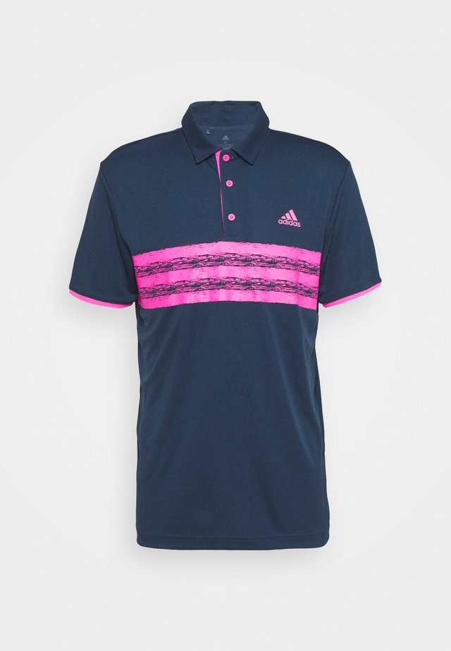 CORE LEFT CHEST - Polo - crew navy/screaming pink