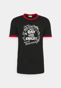 Diesel - T-DIERING  UNISEX - Print T-shirt - black - 0