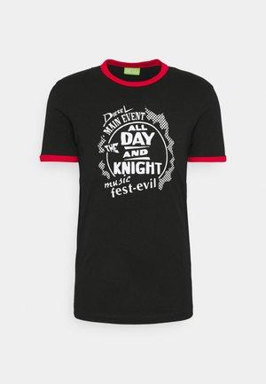 T-DIERING  UNISEX - Print T-shirt - black