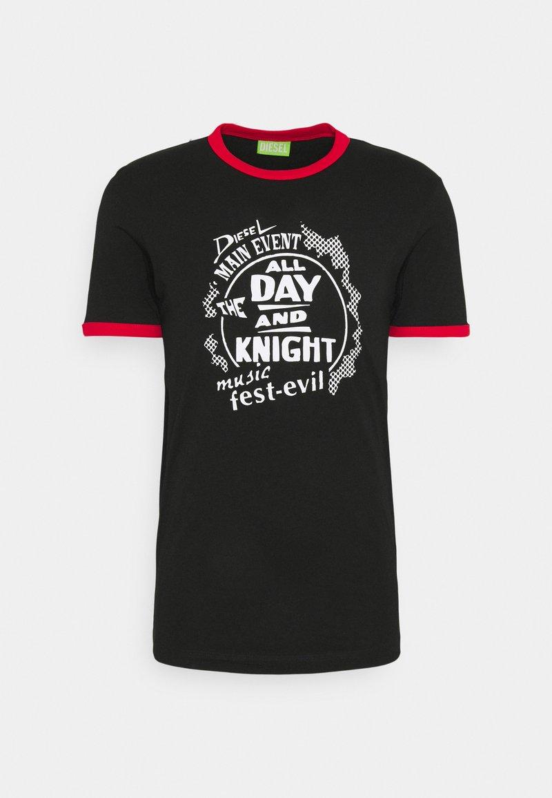 Diesel - T-DIERING  UNISEX - Print T-shirt - black