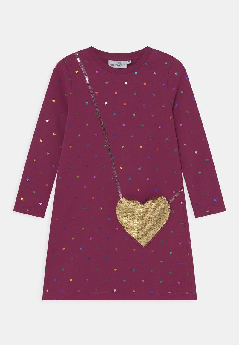 happy girls - SEQUIN - Day dress - berry