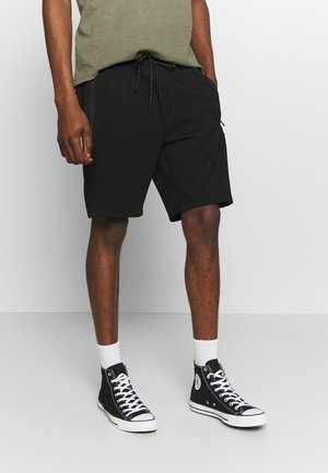 PULL ON WITH BONDED TAPE POCKETS - Tracksuit bottoms - black