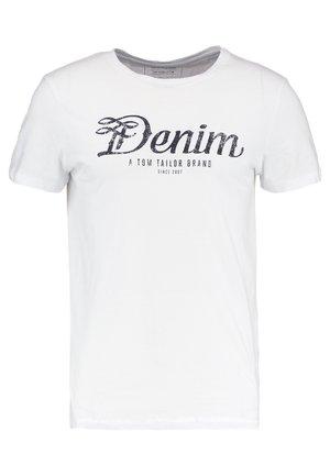 CREWNECK TEE - Print T-shirt - white