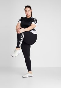 adidas Performance - ESSENTIALS TRAINING SPORTS LEGGINGS - Tights - black/white - 1