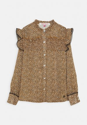 LOESANNE - Button-down blouse - caramel brown