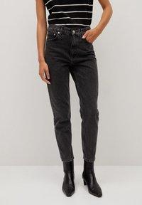Mango - MOM - Slim fit jeans - black - 0
