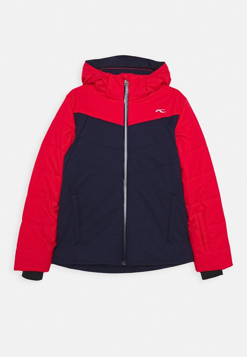 Kjus - BOYS DOWNFORCE JACKET - Ski jacket - atlanta/scarlet