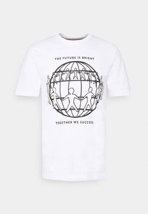 ONE PLANET FRONT LOGO TEE UNISEX - Print T-shirt - white