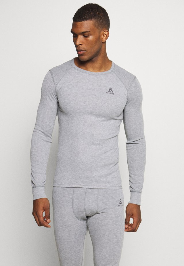 ACTIVE WARM ECO TOP CREW NECK - Sportshirt - grey melange