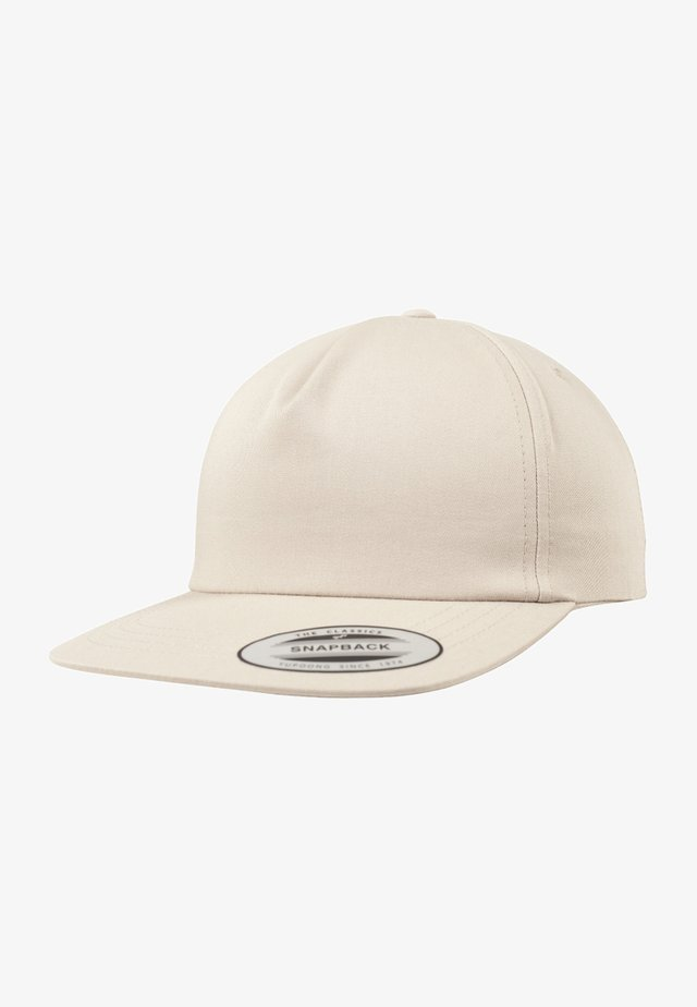 UNSTRUCTURED 5-PANEL SNAPBACK - Cappellino - beige