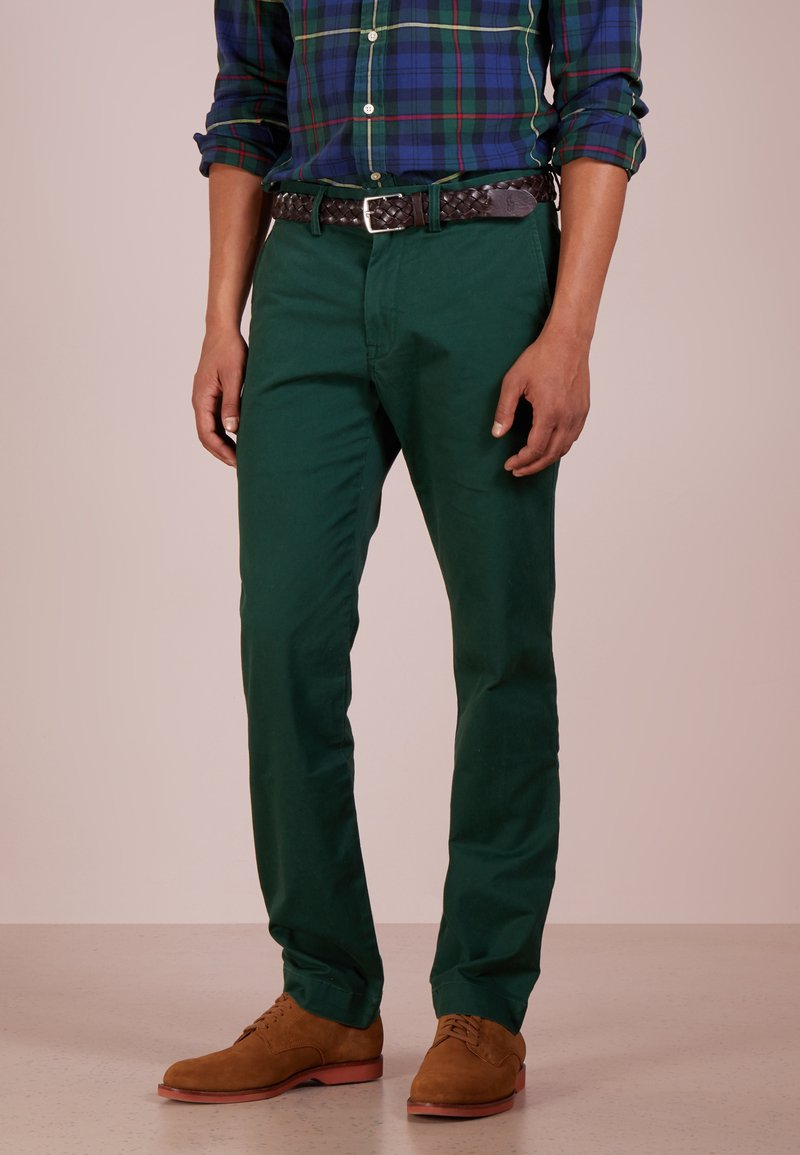 Polo Ralph Lauren - SLIM FIT BEDFORD PANT - Tygbyxor - college green