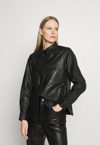 GYNNA - Button-down blouse - black