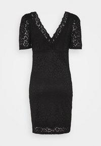 ONLY - ONLNEW ALBA PUFF V-NECK DRESS - Cocktail dress / Party dress - black - 1