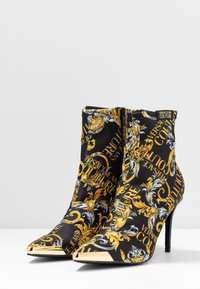 Versace Jeans Couture - High heeled ankle boots - black/yellow - 4