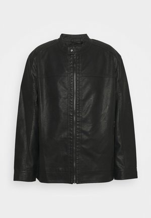JJEWARNER JACKET - Faux leather jacket - black