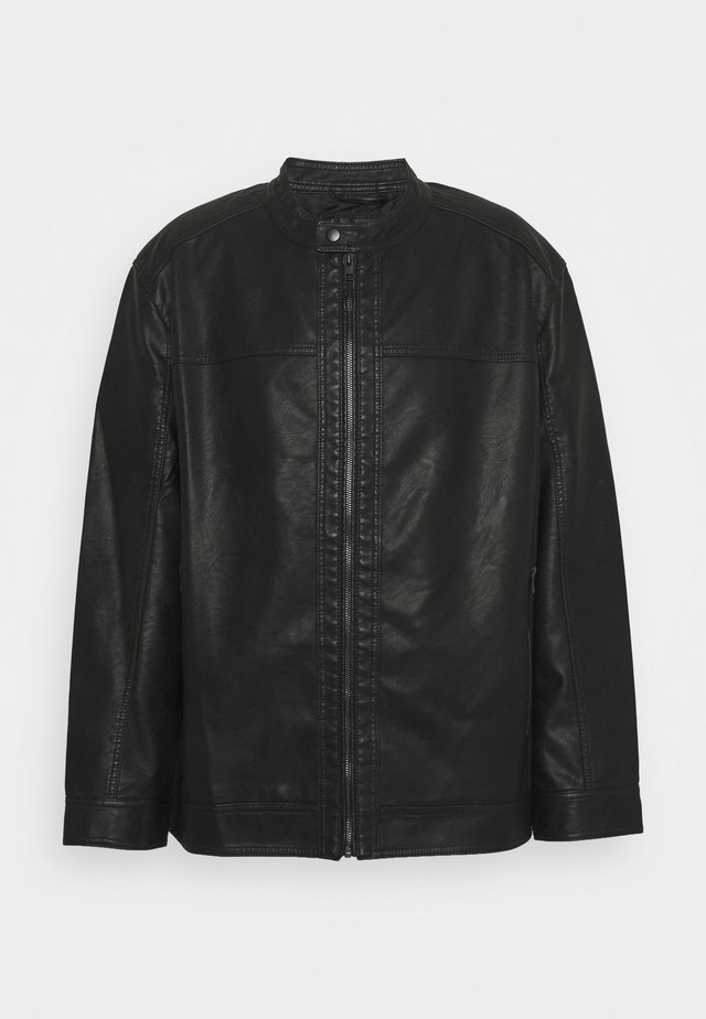 JJEWARNER JACKET - Faux leather jacket - black