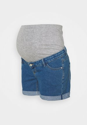 OLMVEGA LIFE MOM - Denim shorts - medium blue denim