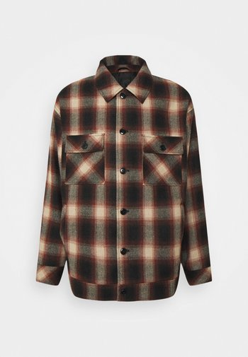 FLECK CHECK  - Summer jacket - red/navy/ecru
