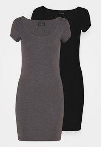 Even&Odd - 2 PACK - Vestido ligero - black/mottled grey - 0