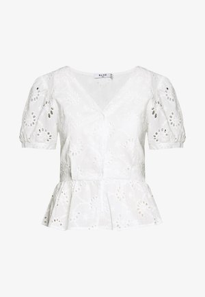 FLOWER ANGLAISE BLOUSE - Bluser - white