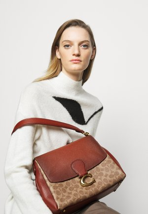 SIGNATURE MAY SHOULDER BAG - Kabelka - tan/rust