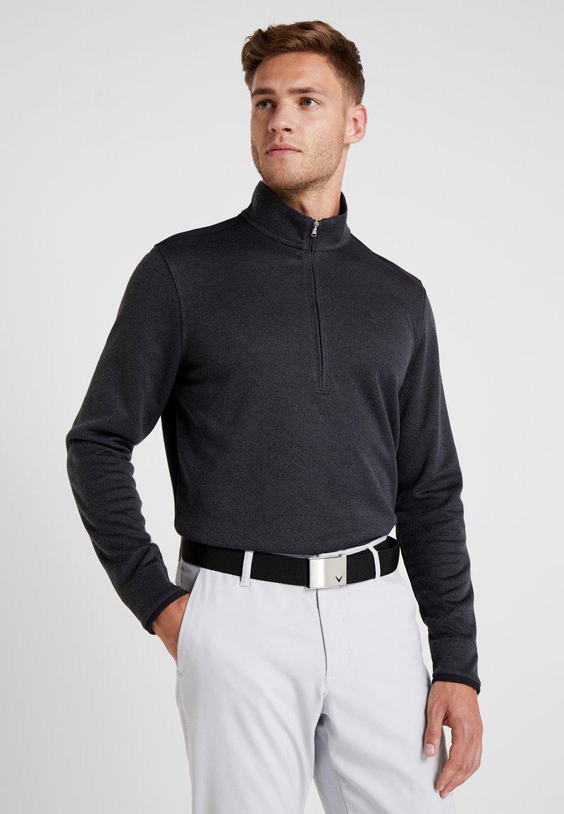 Under Armour - SWEATERFLEECE 1/2 ZIP - Sweatshirt - black