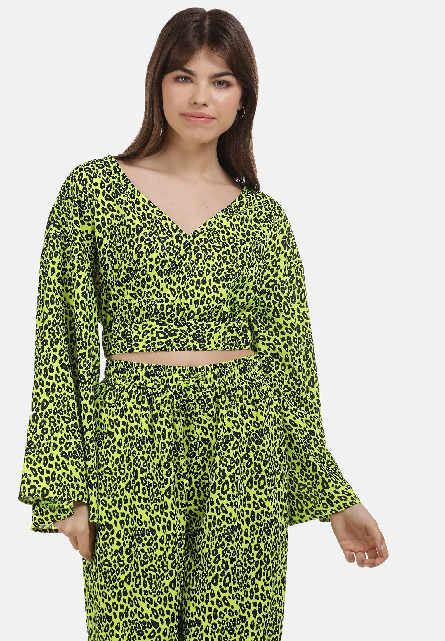 New And Fashion Women's Clothing myMo Blouse neon grün leo UTJTk6ru5