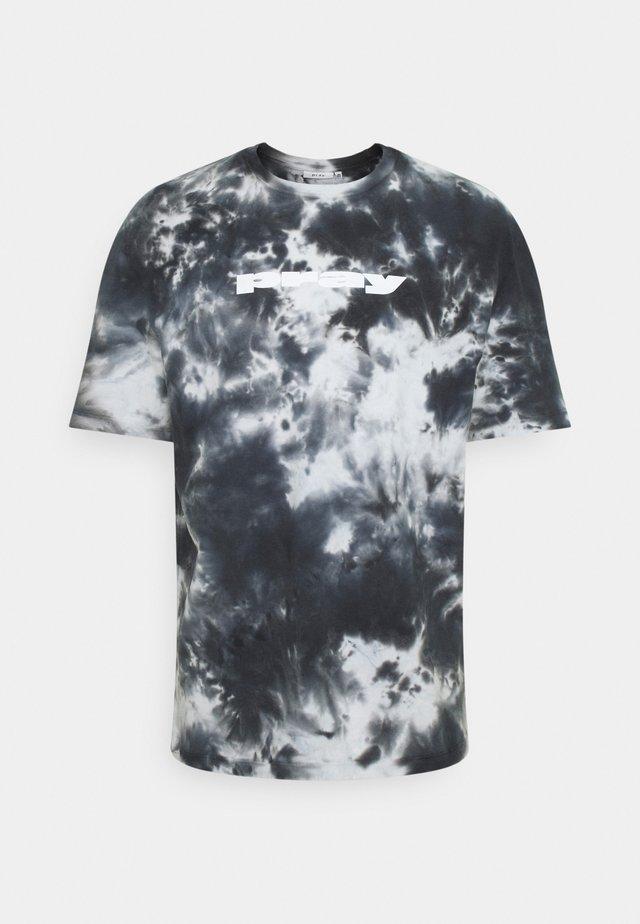 CLASSIC TIE DYE UNISEX  - Print T-shirt - black