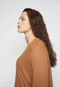 MY TRUE ME TOM TAILOR - PLEAT DETAIL - Long sleeved top - light chestnut - 3