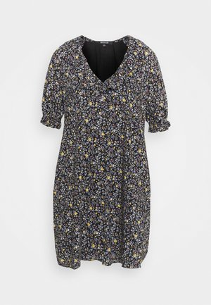 RUFFLE NECK EASY DRESS  - Day dress - multi-coloured