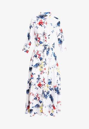 SAVANNAH DRESS FLORAL TROPICAL BLOOMS - Maxi-jurk - white