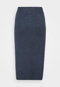 Lindex - SKIRT VIC - Pencil skirt - dark blue melange - 1