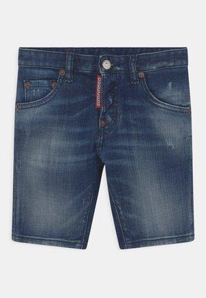 UNISEX - Denim shorts - blue denim