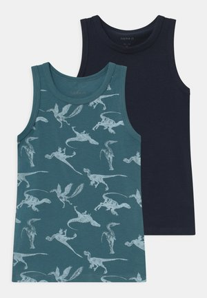 NMMTANK DINO 2 PACK - Undershirt - real teal