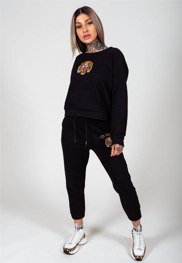 BIG ROAR CROP CREW SWEAT - Sweater - black