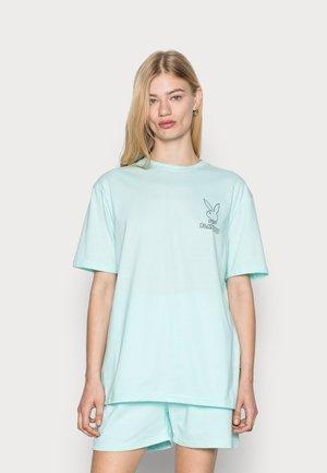 PLAYBOY LOGO OVERSIZED TEE - Basic T-shirt - green