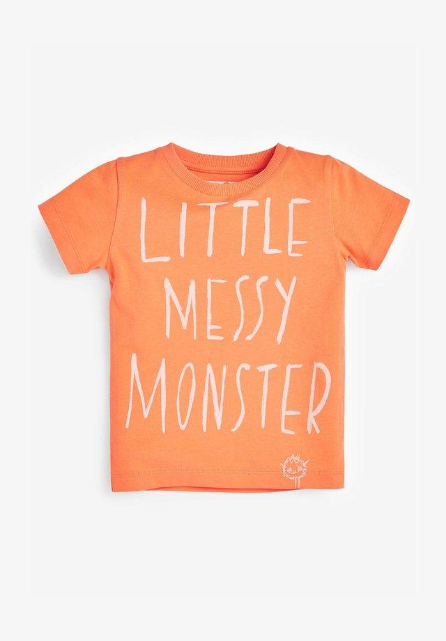 LITTLE MESSY MONSTER  - Triko spotiskem - orange