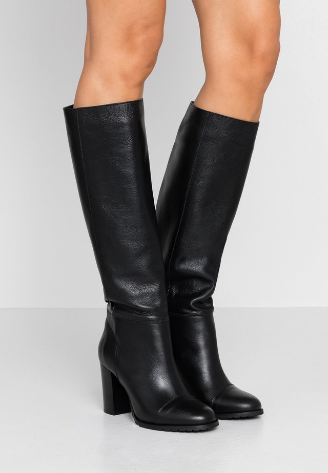EMANUELA LONG - High heeled boots - black