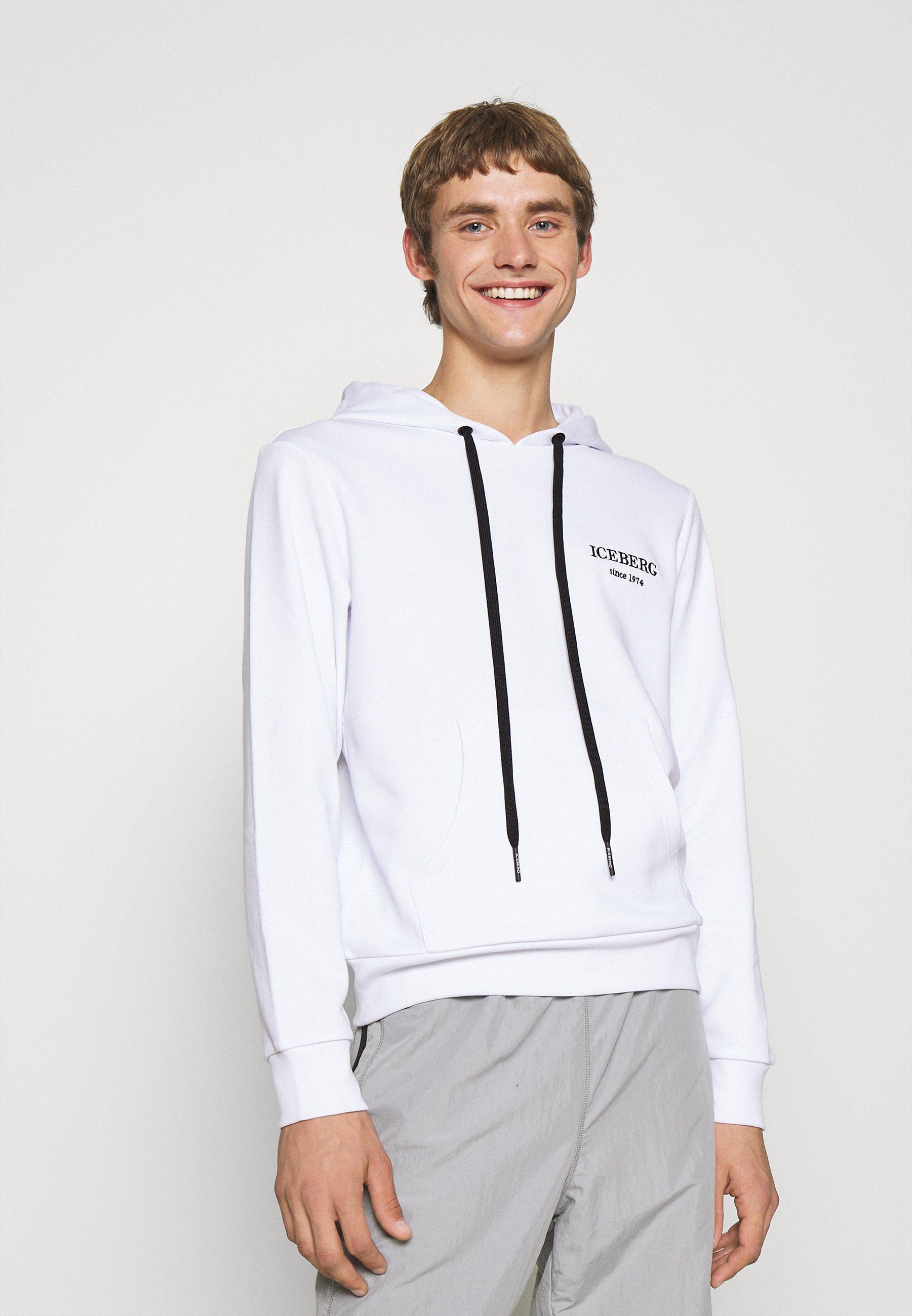 Men FELPA - Sweatshirt - bianco