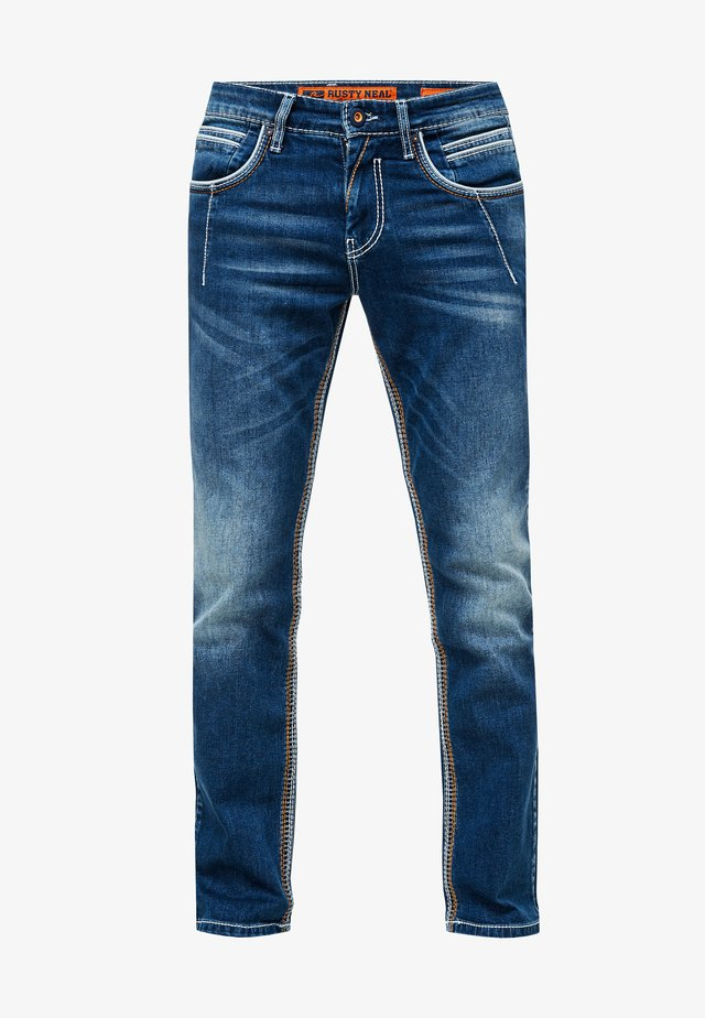 NEW YORK - Slim fit jeans - dunkel blau