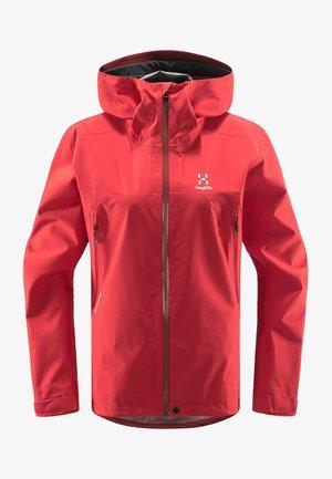 HARDSHELLJACKE ROC GTX JACKET WOMEN - Hardshell jacket - hibiscus red