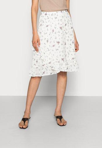 EVA RIKKELIE SKIRT  - A-line skirt - egret