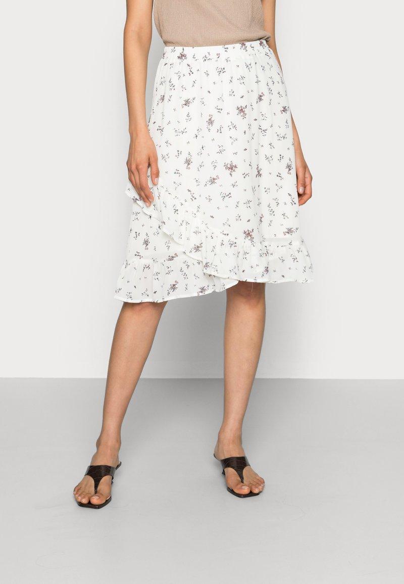 Moss Copenhagen - EVA RIKKELIE SKIRT  - A-line skirt - egret