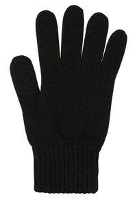Johnstons of Elgin - CASHMERE GLOVES - Gloves - black - 1