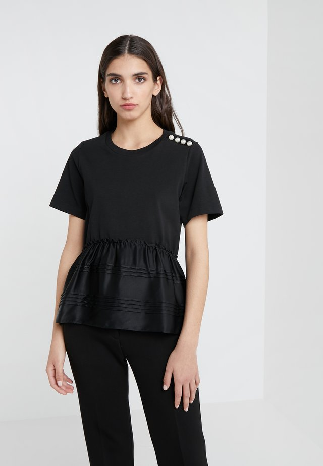 PEARL SHOULDER - T-shirt con stampa - black