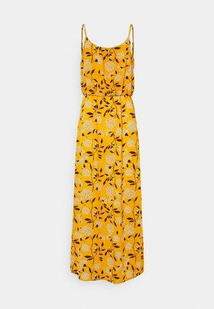 ONLNOVA LUX STRAP MAXI DRESS - Maxi dress - golden yellow/white