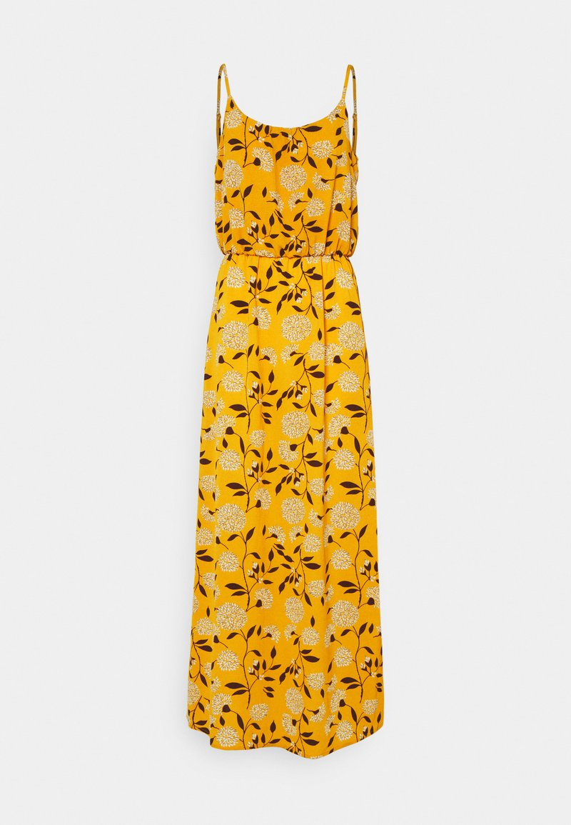 ONLY - ONLNOVA LUX STRAP MAXI DRESS - Maxi dress - golden yellow/white