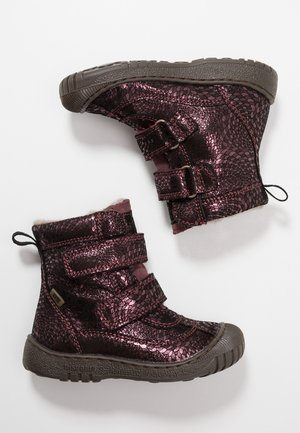 Winter boots - plum swirl
